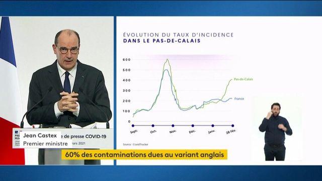 Covid-19 : Jean Castex annonce l'extension du confinement le week-end au Pas-de-Calais