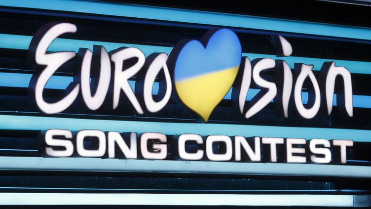 Le logo de l'Eurovision 2020 en Ukraine. (STR / NURPHOTO)
