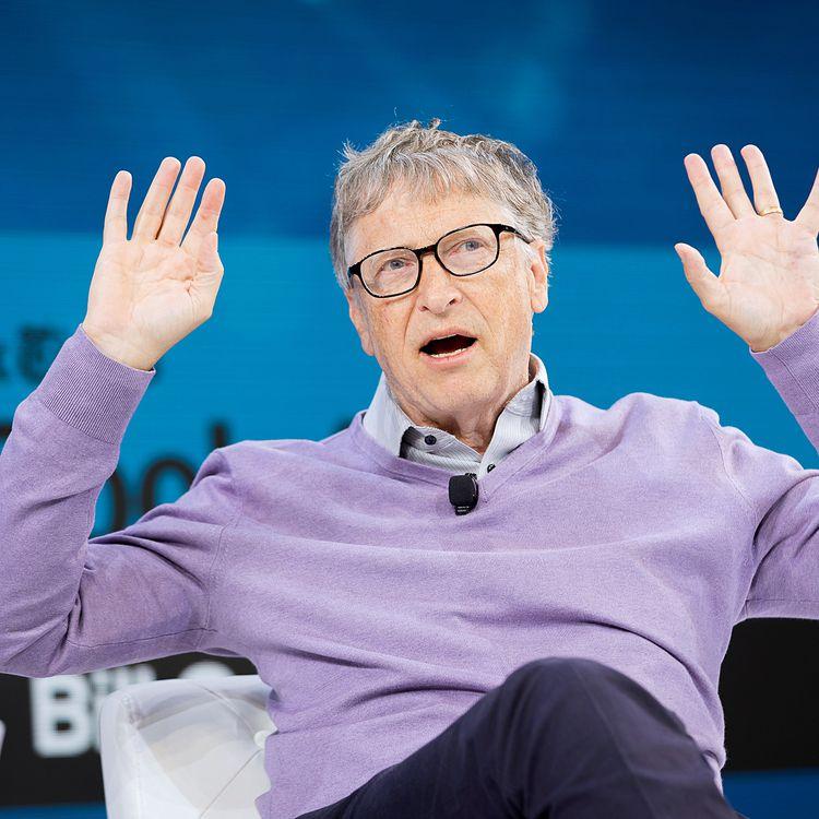 Bill Gates, le 6 novembre 2019, lors d'une conférence à New York (Etats-Unis). (MICHAEL COHEN / GETTY IMAGES NORTH AMERICA / AFP)