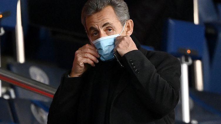 Nicolas Sarkozy, le 22 janvier 2021. (FRANCK FIFE / AFP)