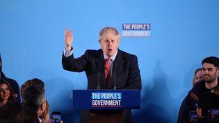 Le Premier ministre Boris Johnson, le 13 décembre 2019 à Londres (Royaume-Uni). (DANIEL LEAL-OLIVAS / AFP)