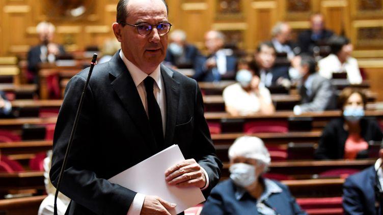 Le Premier ministre Jean Castex après son discours au Sénat, le 16 juillet 2020. (BERTRAND GUAY / AFP)