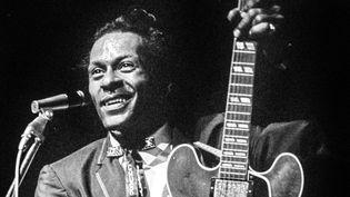 Chuck Berry en 1965 en concert à Stockholm.  (Jacob Forsell / EXP / TT NEWS AGENCY / TT News Agency/AFP)
