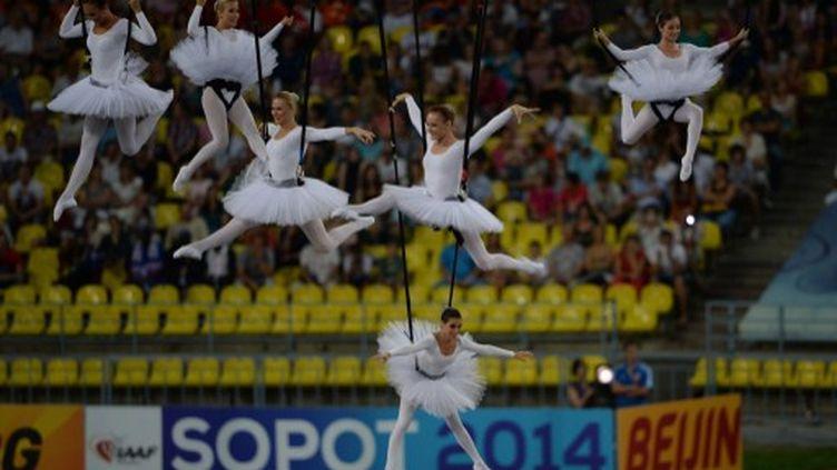 Un des tableaux de la cérémonie d'ouverture (YURI KADOBNOV / AFP)