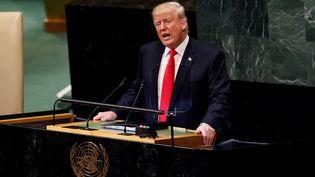 Donald Trump, à New York, le 25 septembre 2018. (ATILGAN OZDIL / AFP)