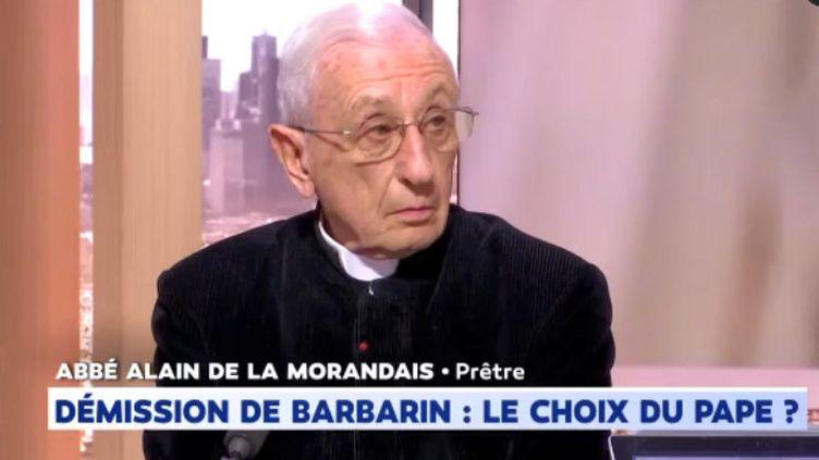 L'abbé Alain de LaMorandais sur le plateau de LCI, le 18 mars 2019. (LCI)