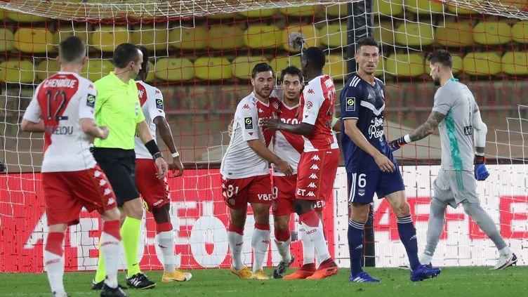 Emmené par un excellent Ben Yedder, Monaco se reprend face à Bordeaux (VALERY HACHE / AFP)
