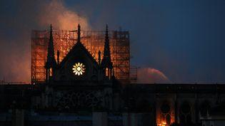 Incendie de Notre-Dame de Paris, le 15 avril 2019. (LUDOVIC MARIN / AFP)