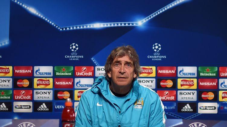 Manuel Pellegrini, alors entraîneur de Manchester City.  (PAUL ELLIS / AFP)