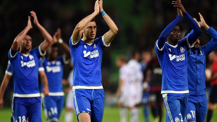 Lucas Ocampos a marqué des points à Groningen en Ligue Europa. (PATRIK STOLLARZ / AFP)