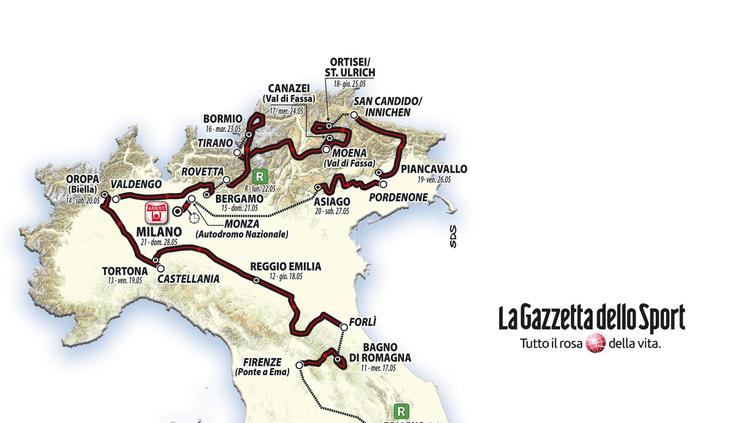 Début du parcours du Giro 2017
