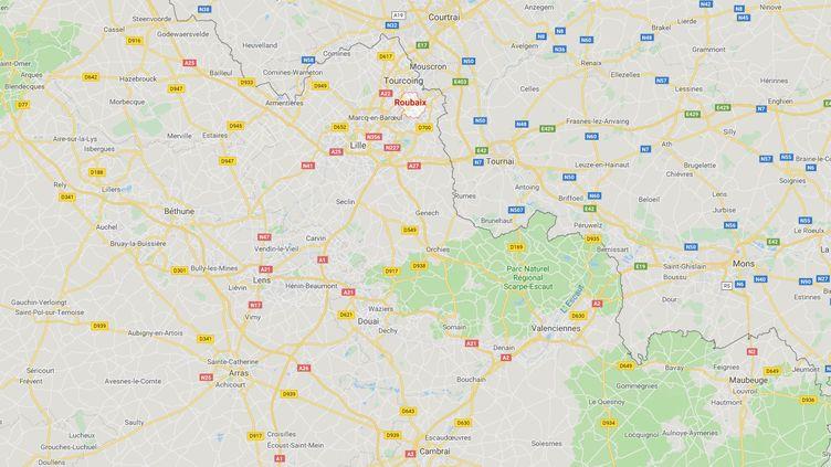 Treize personnes ont été interpellées vendredi 8 mars à Roubaix (Nord), Masnières, près de Cambrai, et Rouen (Seine-Maritime). (CAPTURE ECRAN GOOGLE MAPS)
