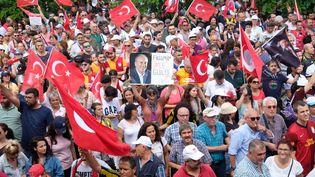 Des supporters de Muharrem Ince réunis à Istanbul (Turquie), samedi 23 juin 2018. (NATHANAËL CHARBONNIER / RADIO FRANCE)