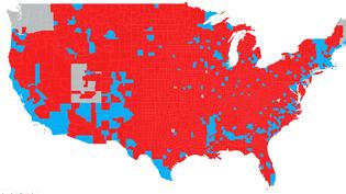 Présidentielle américaine : découvrez tous les résultats comté par comté (NICOLAS ENAULT / CARTO)