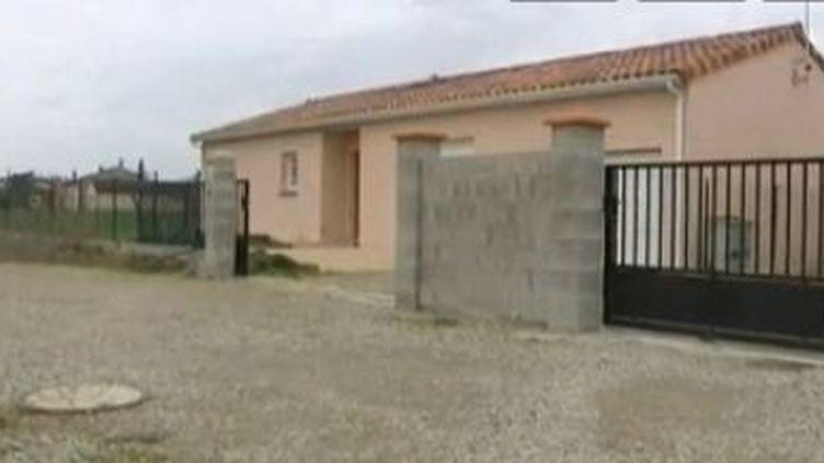 La maison d'Adbelkader Merah à Auterive (Haute-Garonne) où le frère du tueur de Toulouse s'était installé avec sa femme il y a quelques mois. (FRANCE 2 / FTVI)