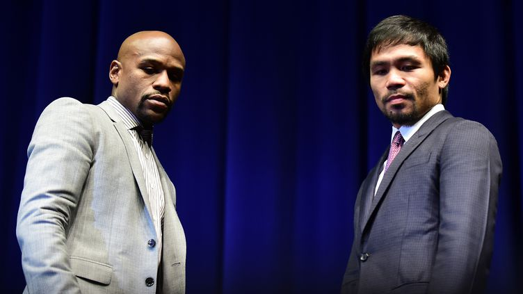 Floyd Mayweather et  Manny Pacquiao (FREDERIC J. BROWN / AFP)
