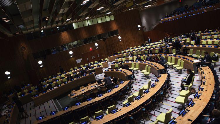 Réunion à la 68e Assemblée générale des Nations unies, le 26 septembre 2013 à New York. (ERIC THAYER / REUTERS)