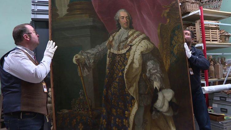 Le portrait de Louis XV est signé Jean-Martial Frédou (France 3 Midi-Pyrénées)