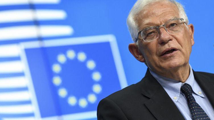 Josep Borrell, chef de la diplomatie de l'Union européenne, à Bruxelles (Belgique) le 12 juillet 2021. (JOHN THYS / AFP)