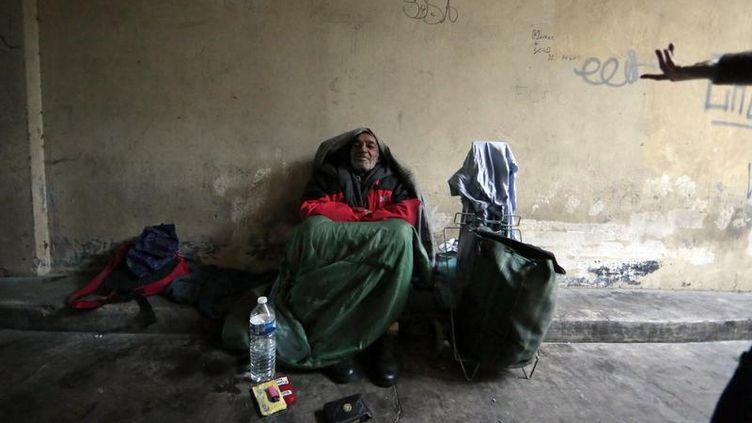 Un sans-abri à Nice (image d'illustration). (? ERIC GAILLARD / REUTERS / X00102)