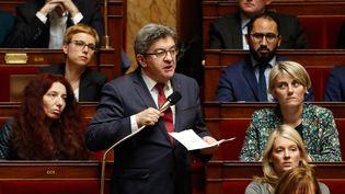 Jean-Luc Mélenchon, le 27 mars 2018, à l'Assemblée nationale (Paris). (FRANCOIS GUILLOT / AFP)