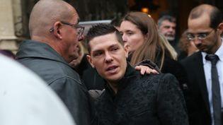 Jonathann Daval lors des obsèques d'Alexia Daval, le 8 novembre 2017, à Gray (Franche-Comté). (MAXPPP)