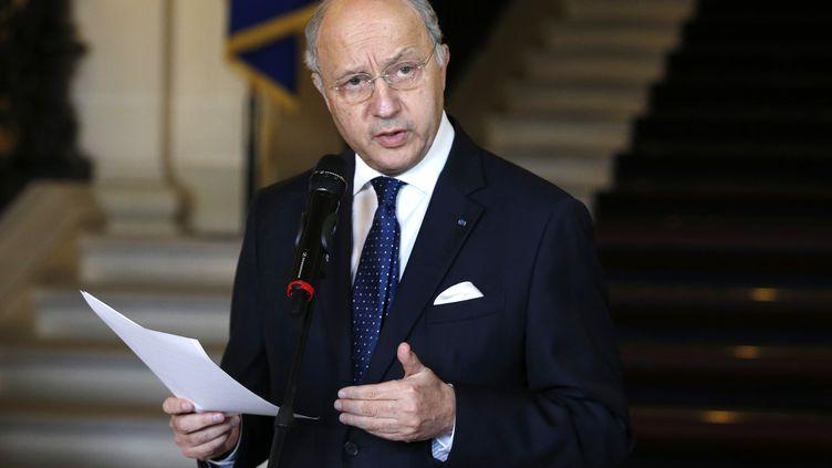 Le ministre des Affires étrangères, Laurent Fabius, à Paris, le 24 février 2015. (FRANCOIS GUILLOT / AFP)
