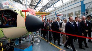 Visite de François Hollande au site d'Airbus Helicopters de Marignane le 15 juillet 2015 (ALAIN JOCARD / POOL)