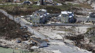 L'îles Abacos (Bahamas) est ravagée par le passage de l'ouragan Dorian, le 5 septembre 2019. (ADAM DELGIUDICE / AFP)