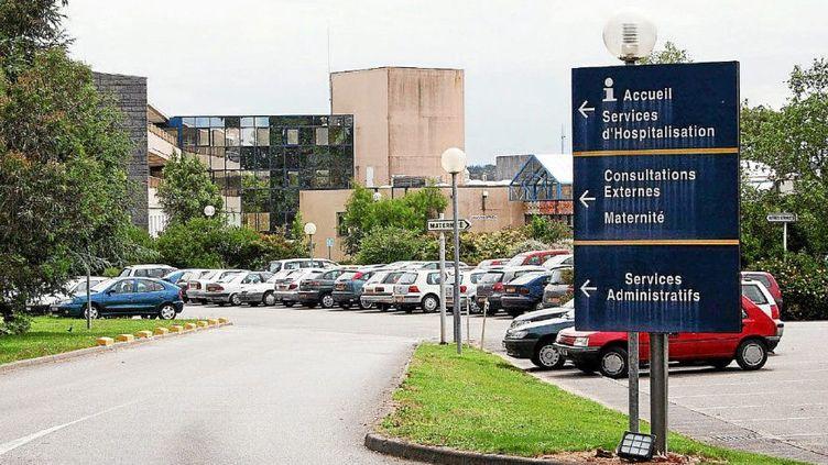 L'hôpital de Quimperlé, où exerçaitJoël Le Scouarnec en 2006 (illustration). (PHOTOPQR / LE TELEGRAMME / MAXPPP)