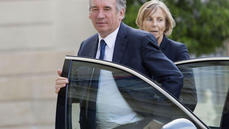 François Bayrou et Marielle de Sarnez arrive à l'Elysée, le 25 juin 2016. (GEOFFROY VAN DER HASSELT / AFP)
