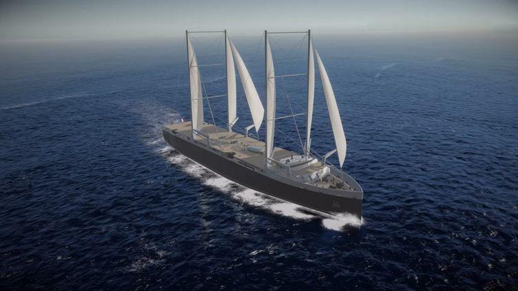L'armateur nantais Neoline a annoncé la prochaine construction de ses deux premiers cargos à voile, dont la mise à l'eau est prévue en 2021. (NEOLINE)