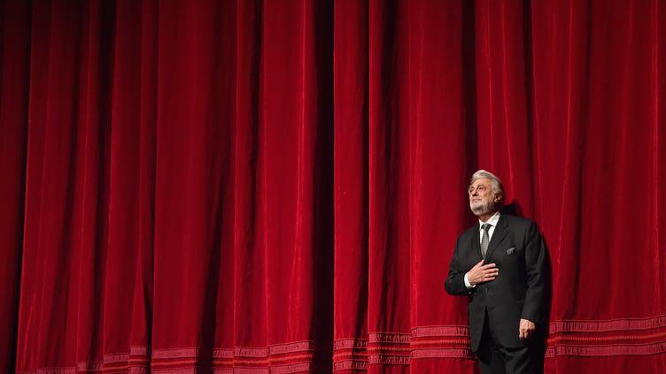 Le chanteur d'opéra espagnol Placido Domingo au Metropolitan Opera de New York, en 2018. (ANGELA WEISS / AFP)