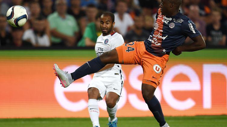 Jérôme Roussillon découvre la Ligue 1 sans complexe, au point de devenir l'une des révélations de la saison à Montpellier. (PASCAL GUYOT / AFP)