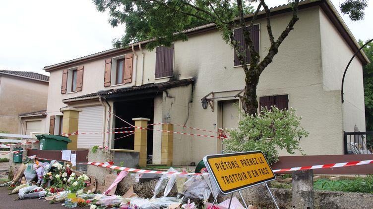 Le domicile deChahinez, jeune femme de 31 ansbrûlée vivepar son mari, le 7 mai 2021 à Mérignac (Gironde). (PAOLO PHILIPPE / FRANCEINFO)