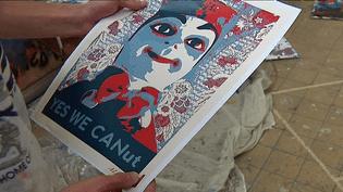 """Le cri d'alarme du Guignol de Lyon pour sauver le musée des tissus - """"Yes We CANut"""" créé par l'artiste muraliste Alex Berratta  (France 3 / Culturebox)"""