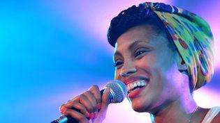Imany sur la scène du festival de Montreux  (JOFFET EMMANUEL/SIPA)