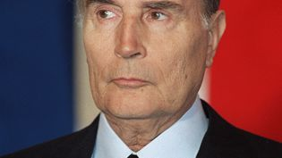 François Mitterrand, à Auxerre (Yonne), le 22 novembre 1986. (ERIC FEFERBERG / AFP)