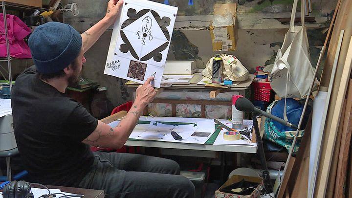 InkOj dans son atelier (France  Normandie)