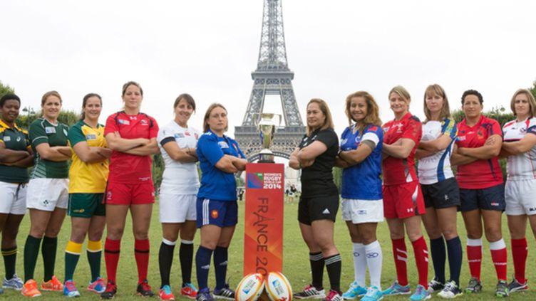 Les capitaines des 12 équipes participant à la Coupe du monde 2014 en France