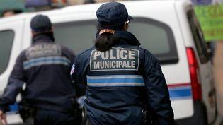 Des policiers municipaux en Lorraine (illustration). (JULIO PELAEZ / MAXPPP)