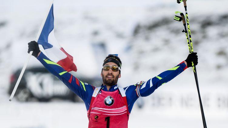 41e victoire de la carrière de Martin Fourcade en Coupe du monde (KONSTANTIN CHALABOV / RIA NOVOSTI)