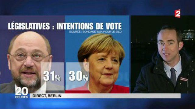 Allemagne : Angela Merkel en danger face à Martin Schulz