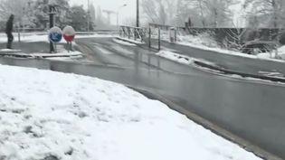 La N118 sous la neige le 6 février 2018 (FRANCE 2)