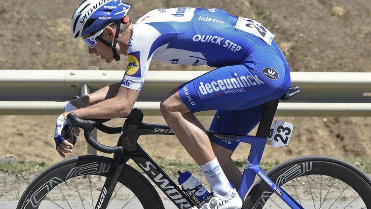 Mikkel Honore (Deceuninck-Quickstep) remporte la cinquième étape du Tour du Pays basque, vendredi 9 avril 2021. (JUAN BARRETO / AFP)