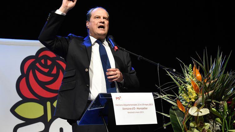 Le Premier secrétaire du PS, Jean-Christophe Cambadélis, le 6 mars 2015 à Montpellier (Hérault). (PASCAL GUYOT / AFP)