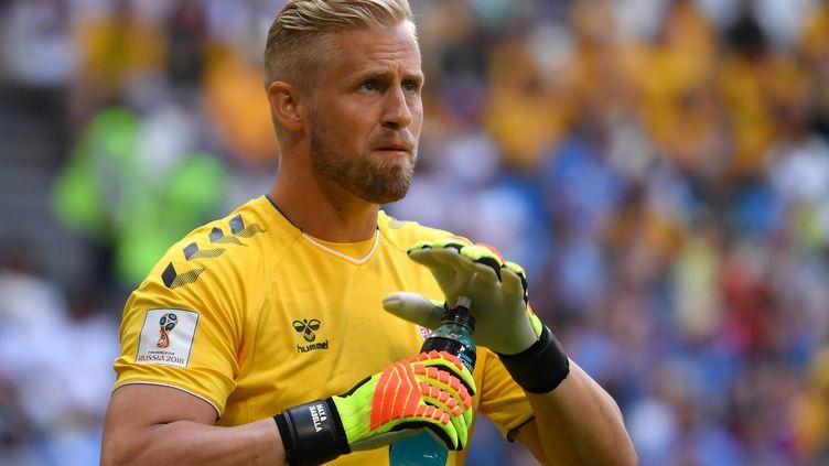 Kasper Schmeichel, gardien de l'équipe du Danemark, le 21 juin 2018. (SVEN SIMON / AFP)