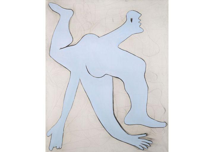 Pablo Picasso, L'acrobate bleu, Paris, novembre 1929, Musée national Picasso-Paris, dation Jacqueline Roque-Picasso, en dépôt au Centre Pompidou, Paris, Musée national d'art moderne / Centre de création industrielle (© Succession Picasso 2021)
