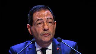 Jean-Luc Roméro, président de l'associationpour le Droit de Mourir dans la Dignité, le 14 octobre 2017. (XAVIER LEOTY / AFP)