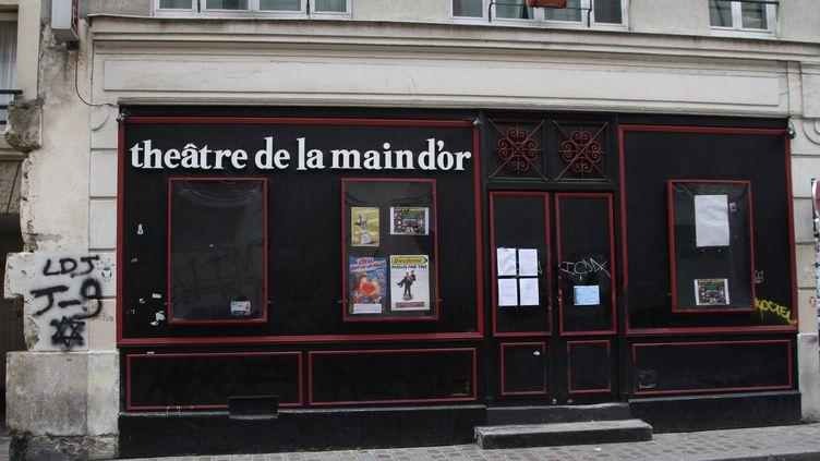Le théâtre de la Main d'Or à Paris, le 12 janvier 2014. (MAXPPP)